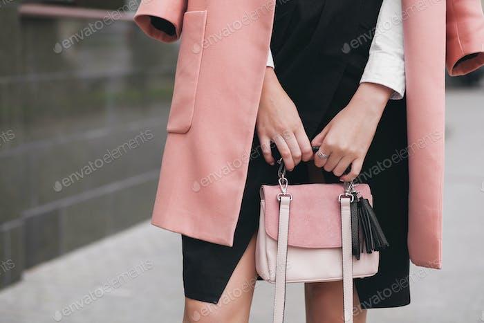 woman purse fashion style spring