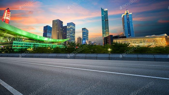 Straße und Städte