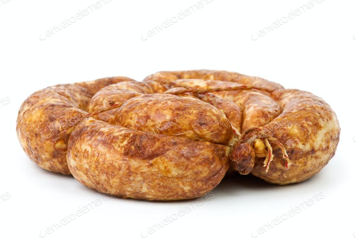 Grilled home-maded sausage