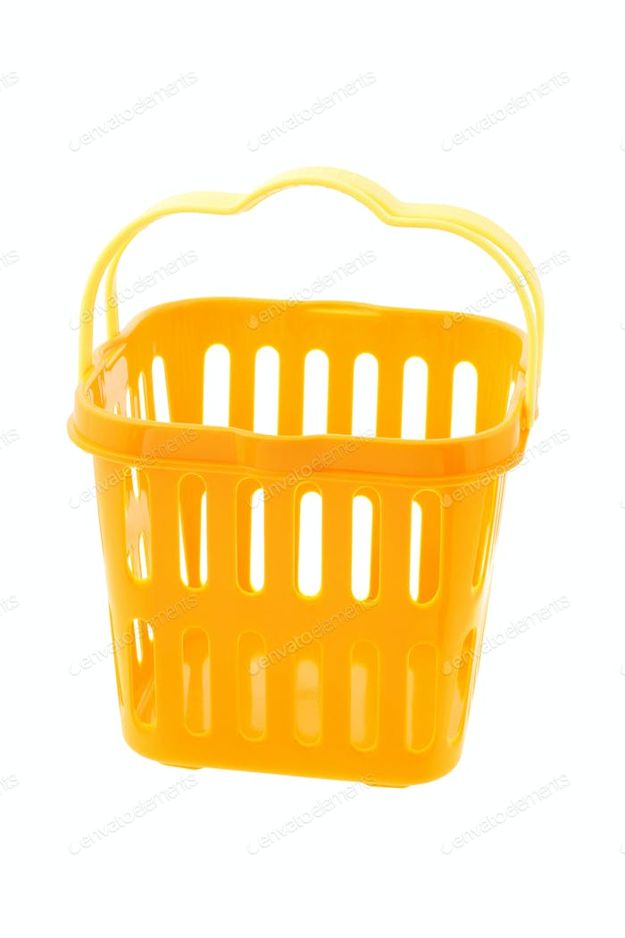 Yellow plastic basket