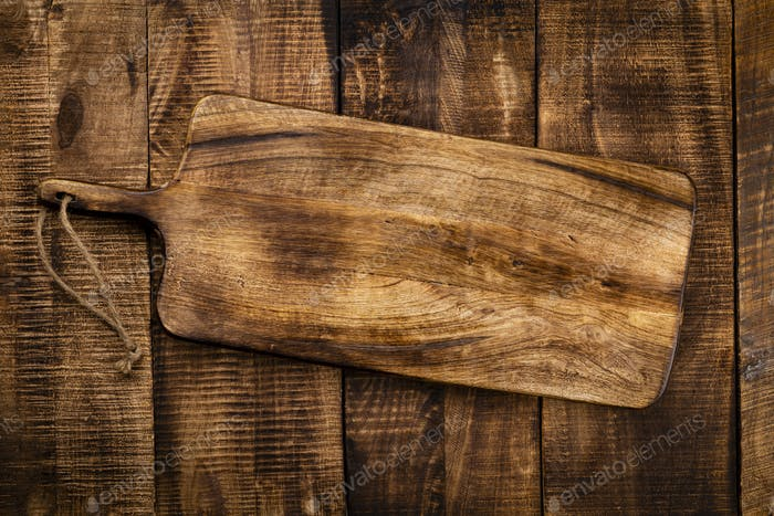 Empty cutting board Cutting Board on a old rustik table