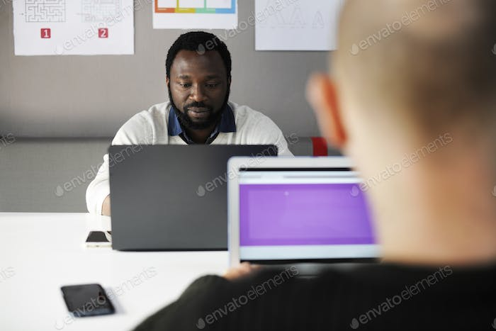 Startup Business People Working on Laptop Copy Space