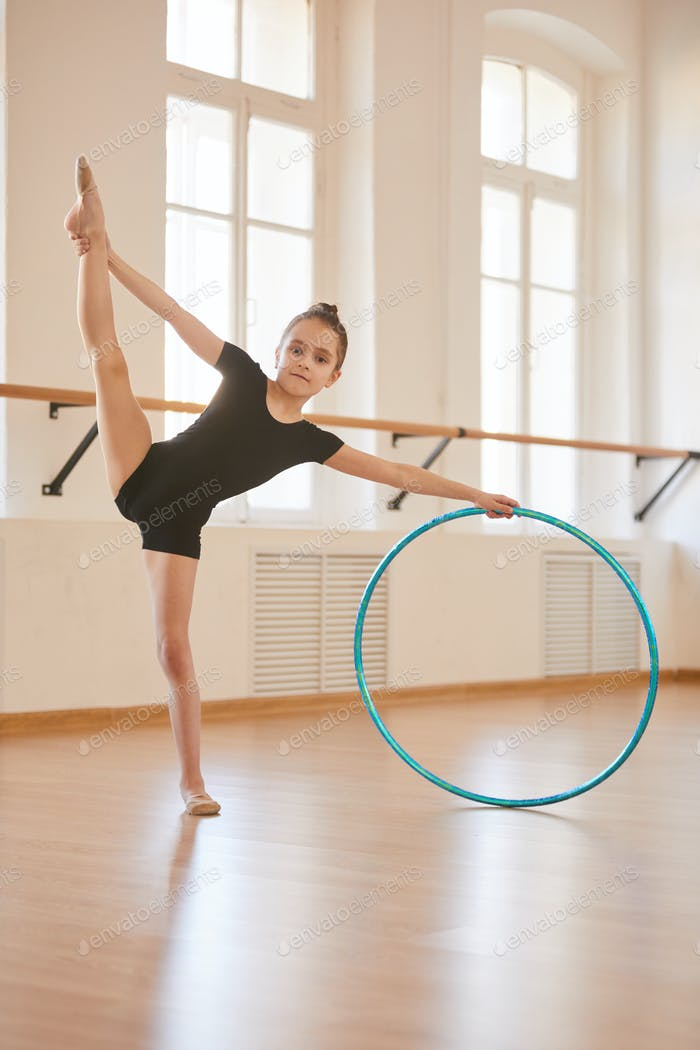 Young Gymnast with Hoop