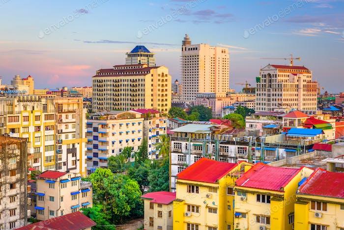 Yangon, Myanmar Downtown Cityscape