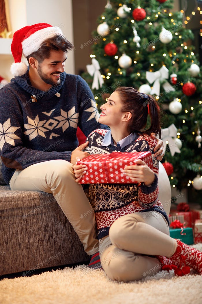 love couple enjoying in the holidays