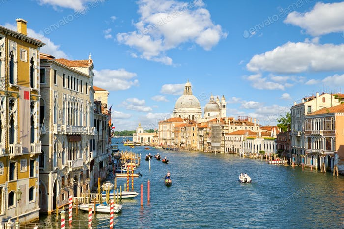 Famous Grand Canal in Venice