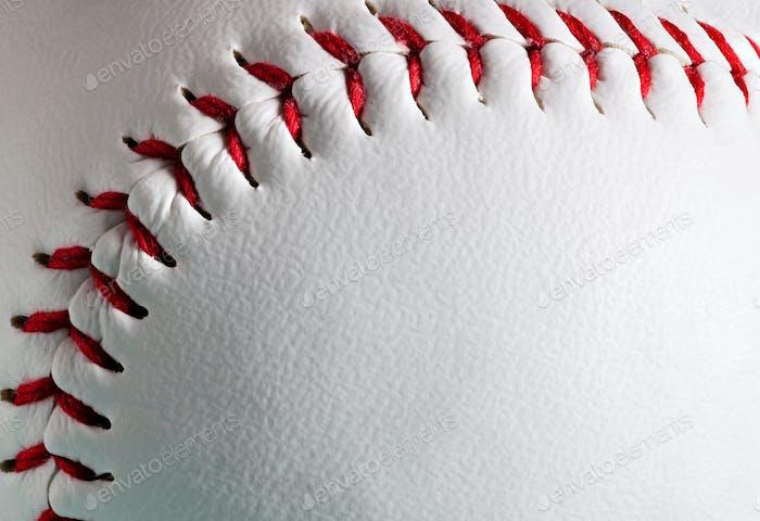 Makro von neuen Baseballball mit Kopierraum.