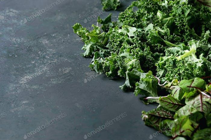 Grüne Salatmischung