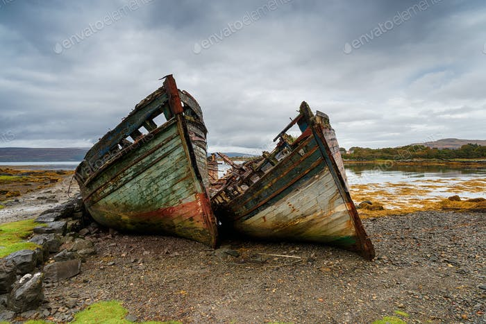 Abandoned Boats on the Isle of Mull