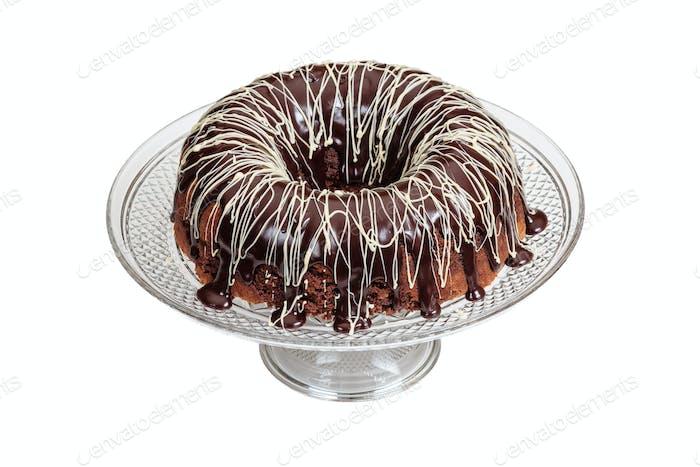 Mocha Pound Cake With Ganache Frosting
