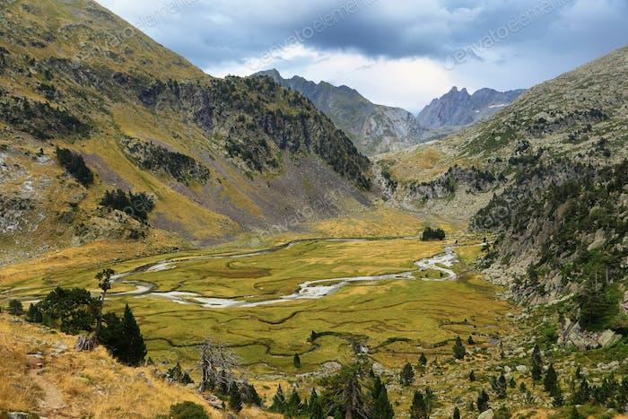 Trail to Pico Aneto, Pyrenees, Spain