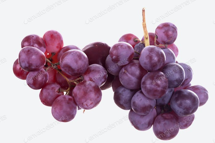 Grapes and apricot isolated on white background