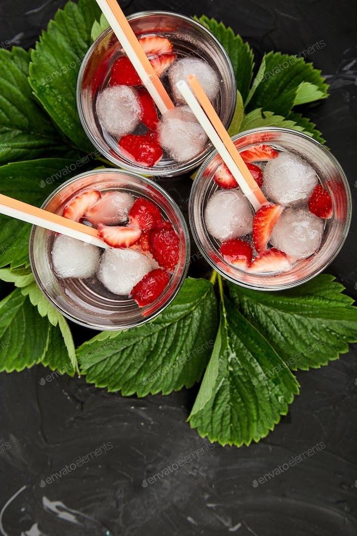 Strawberry detox water.