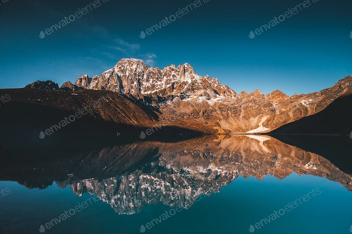 Gokyo Lake on the Himalayas mountains background