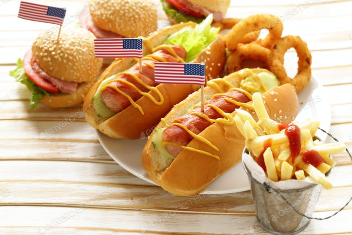 Traditional Food For The Celebration Of July 4