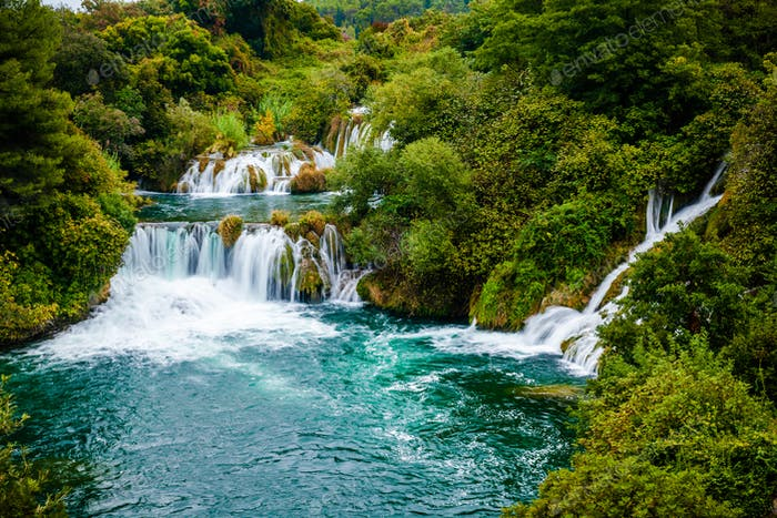 Waterfall of Krka National Park, Croatia