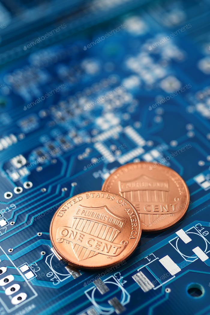 Coins and printed circuit board