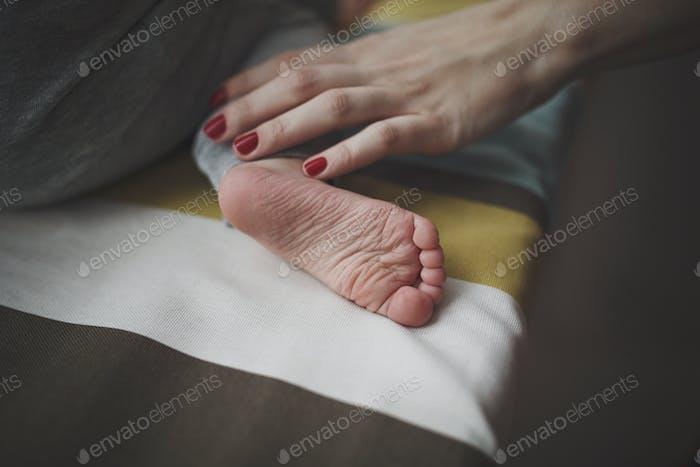 Baby's leg