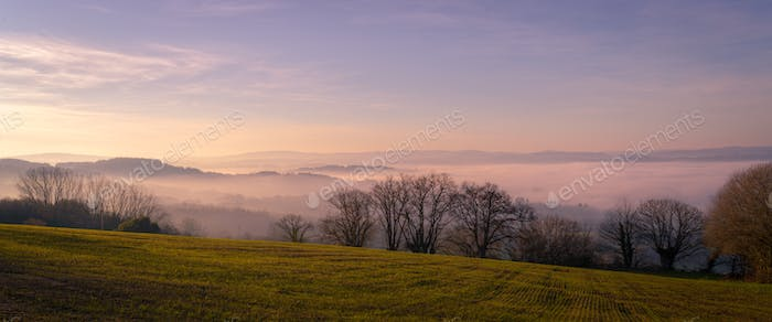 Morning Mists in a delicate Pink Dawn