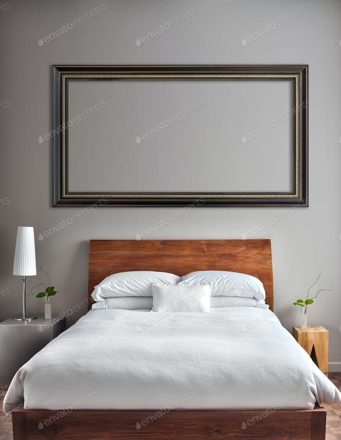 Schönes, sauberes und modernes Schlafzimmer