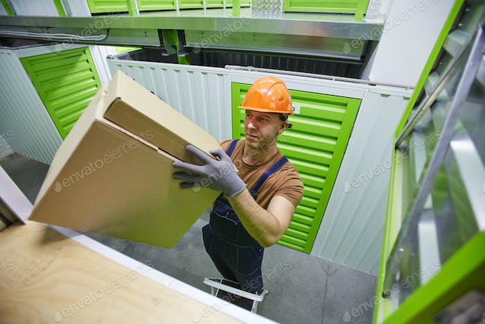 Man loading the boxes