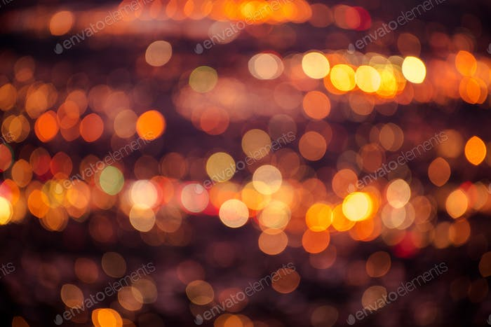Colorful City Blurs Background