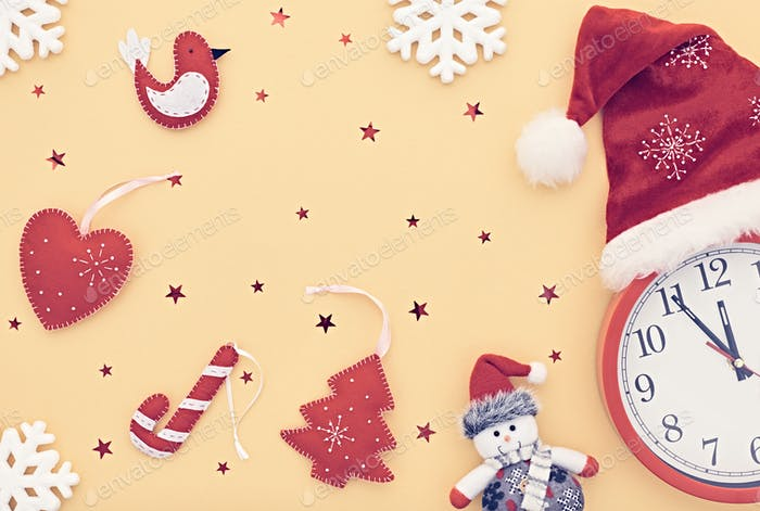 New Year background decoration. Design Handmade