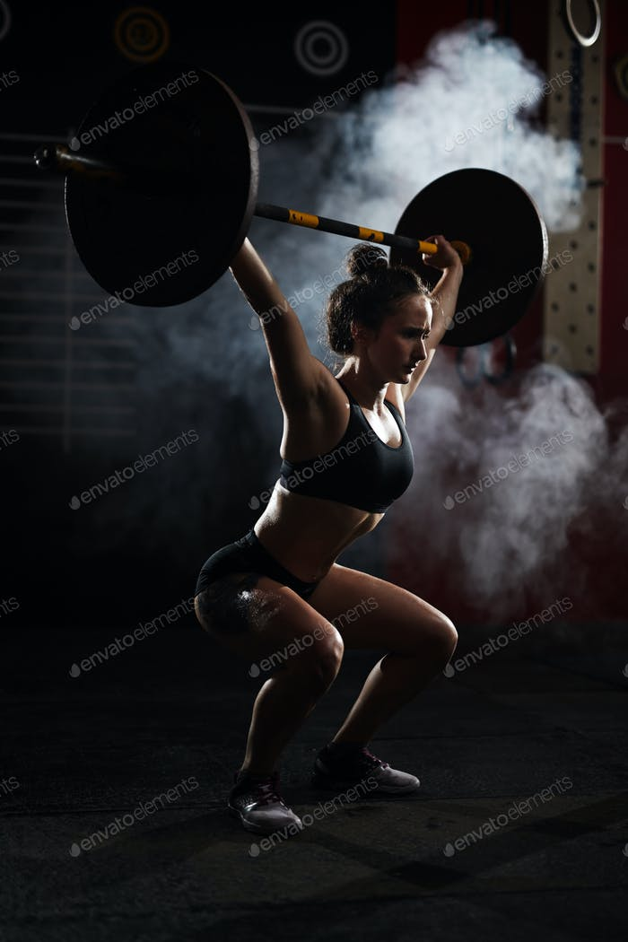 Workout with barbell