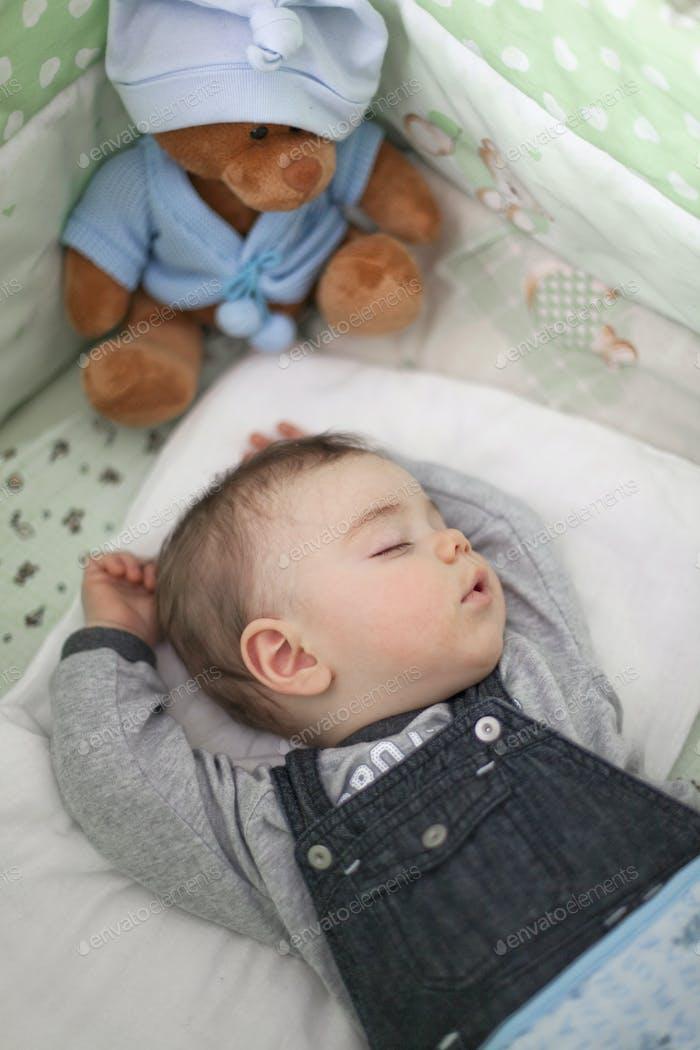 Sleeping cute lttle baby.