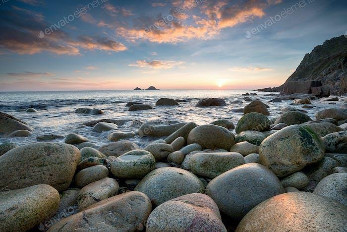 Sunset at Porth Nanven