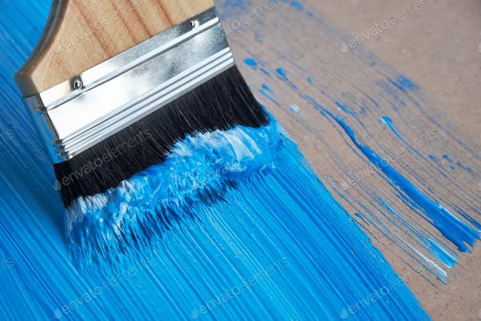 Paint blue color