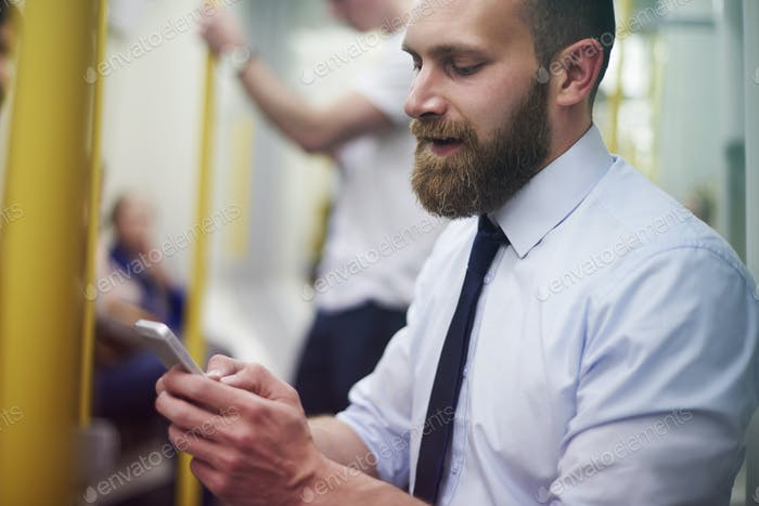 Only in the subway I have some time for texting