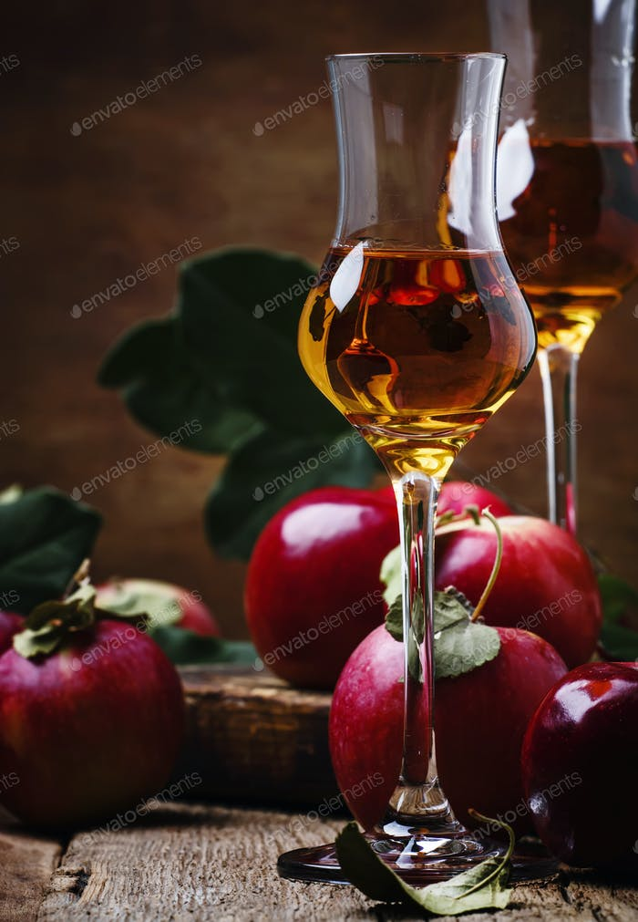 French apple strong alcoholic drink
