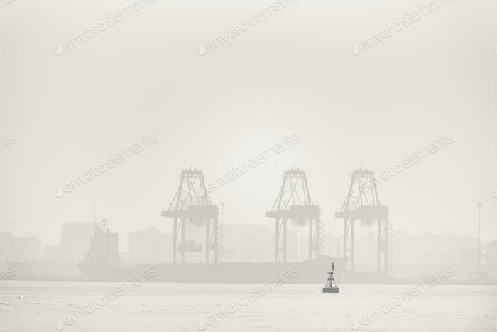 industrial cargo port