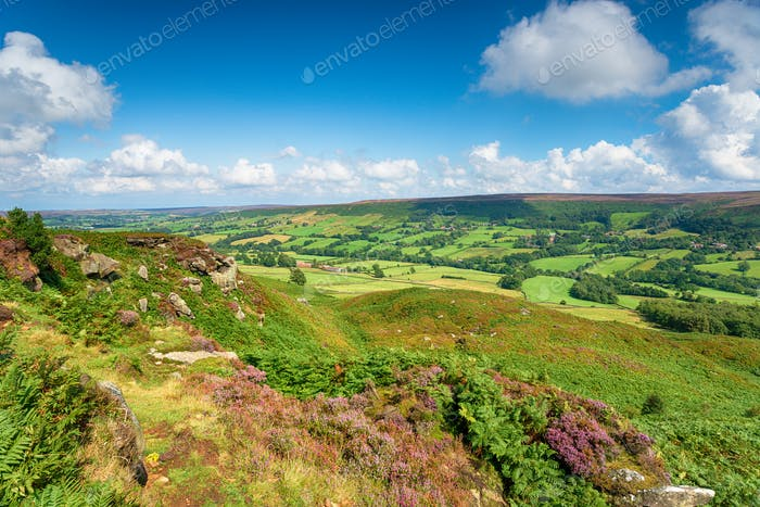 Looking out over Botton in the North Yorkshire Moors