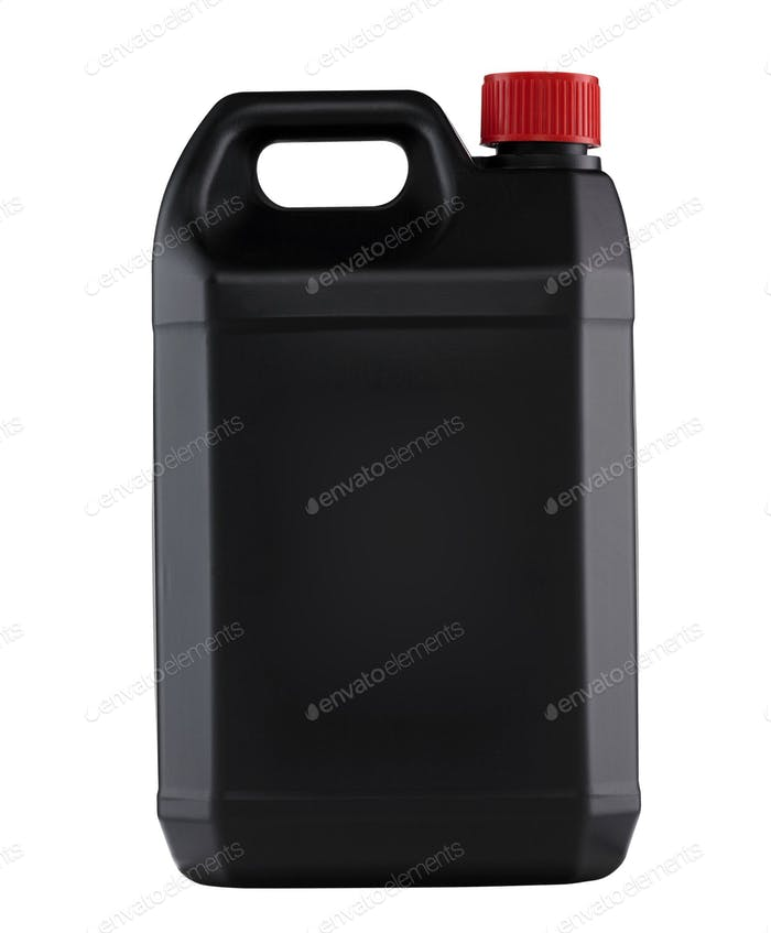 Black plastic gallon