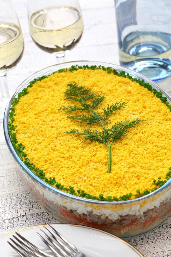 mimosa salad, mimosa day dinner