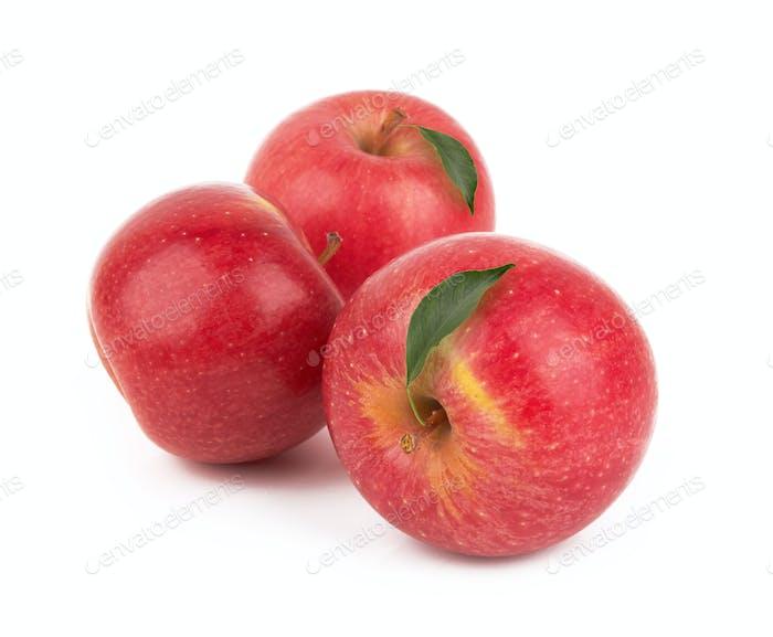 Rote Äpfel isoliert
