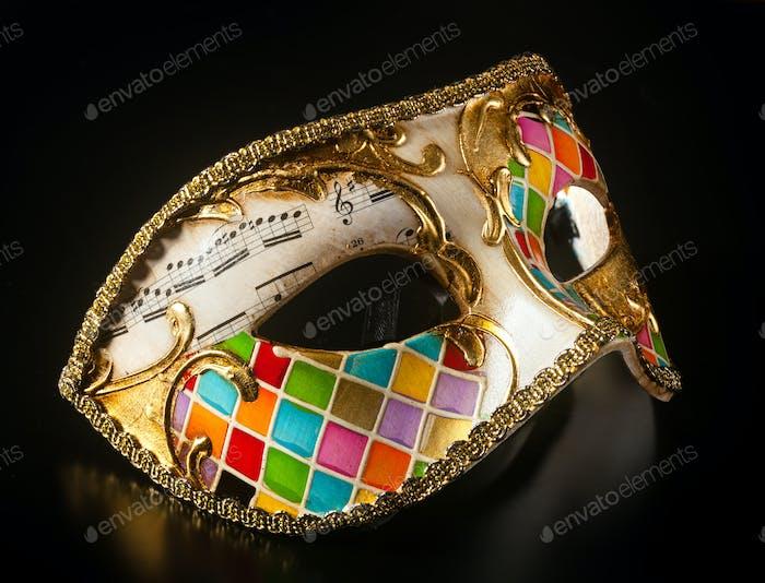 Venezianische Maske Harlekin Stil