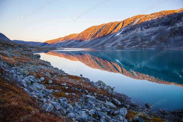 See bei Gamle Strynefjellsvegen, Nationale touristische Straße, Norwegen