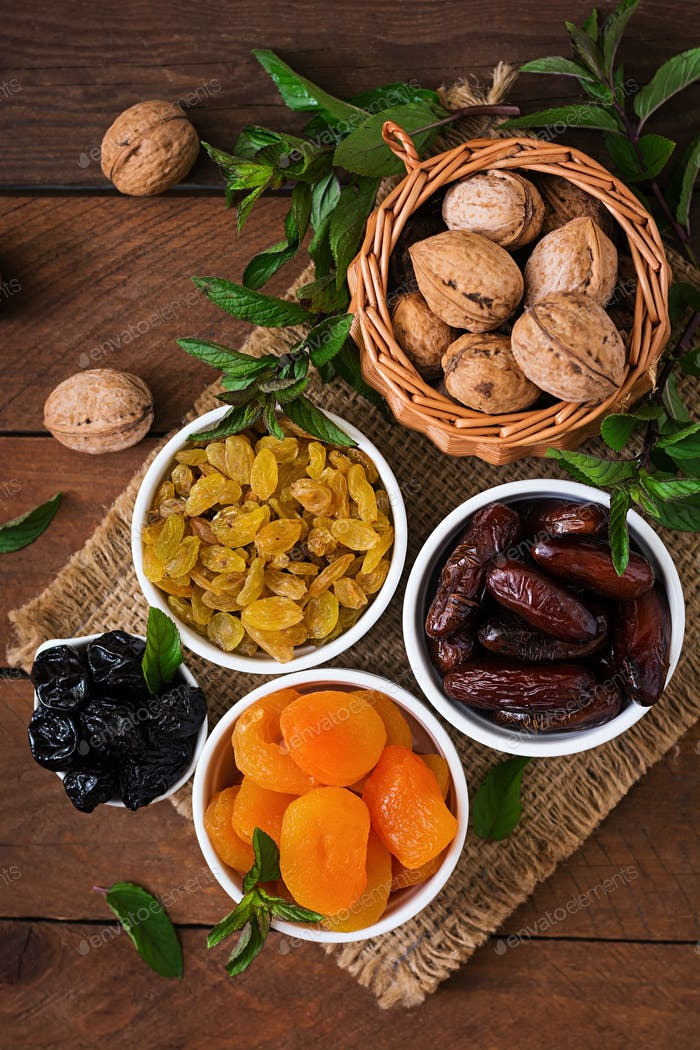Mix dried fruits and nuts. Ramadan (Ramazan) food.