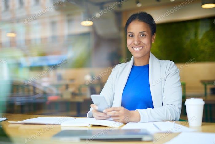 Manager im Café