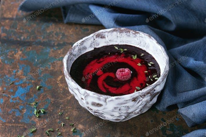 Dessert berry soup