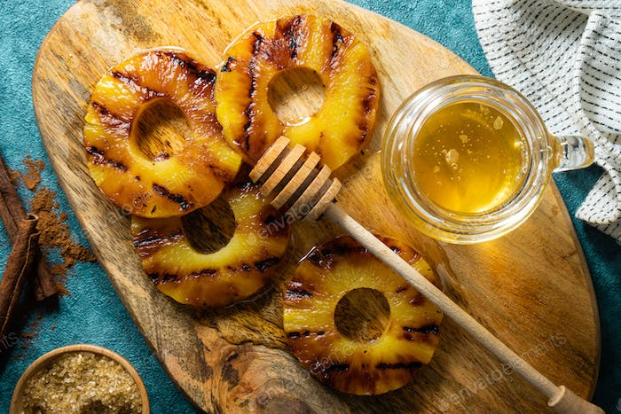 Grilled Honey Pineapple