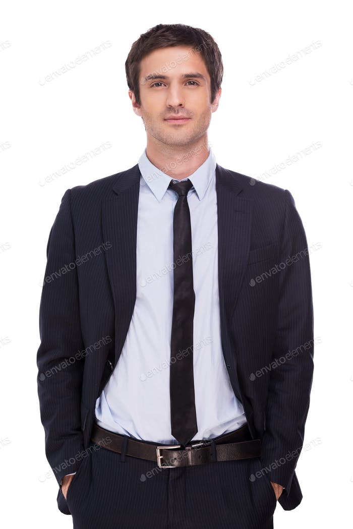 Relaxed businessman.