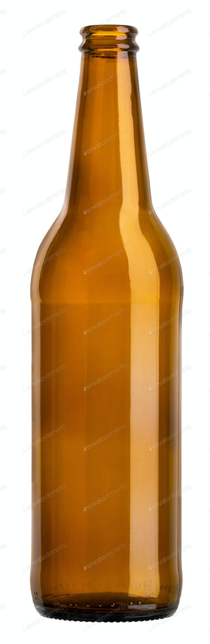 empty brown bottle