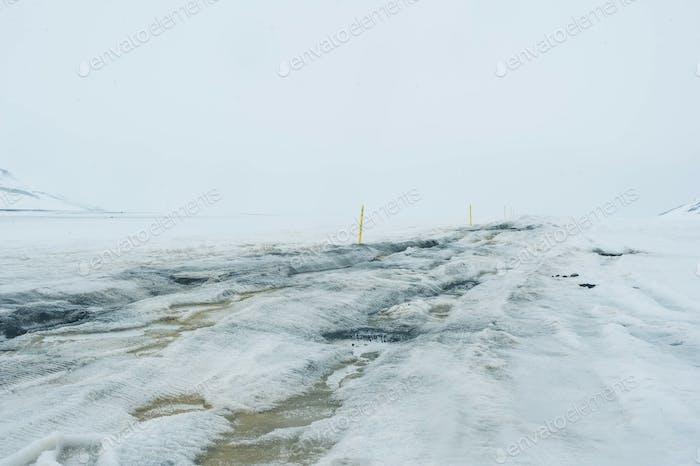 snow field mountains