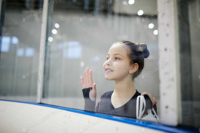 Little Girl watching Practice