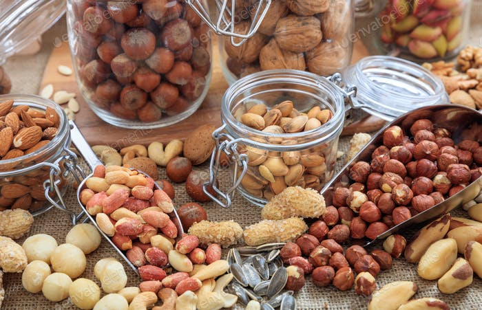 Variety of nuts composition