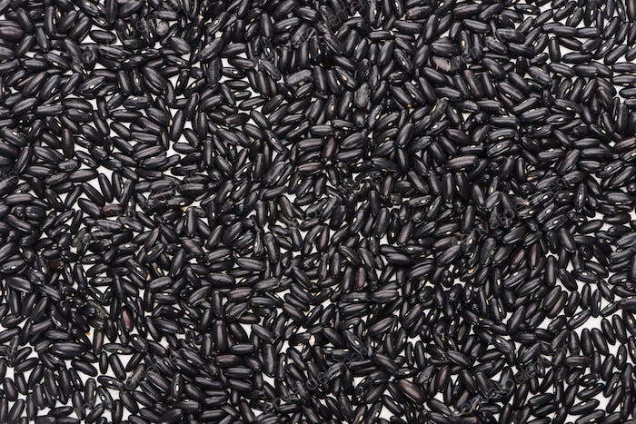 Top View of Uncooked Organic Black Beans